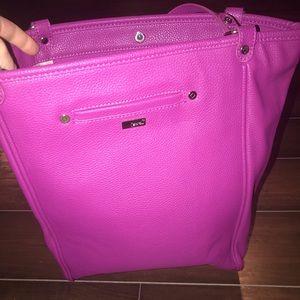 BNWOT Thirty-One Purple leather purse - Smoke/pet
